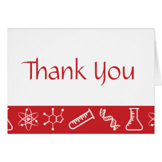 Attractive Forces in Cherry Thank You Card