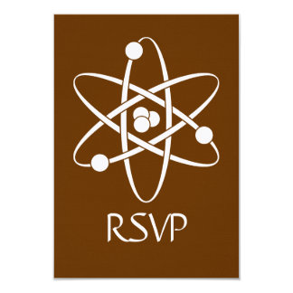 Attractive Forces in Chocolate RSVP Card Custom Invites