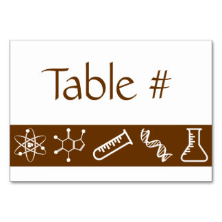 Attractive Forces in Chocolate Table Card