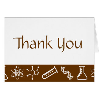Attractive Forces in Chocolate Thank You Card