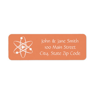 Attractive Forces in Coral Return Address Label