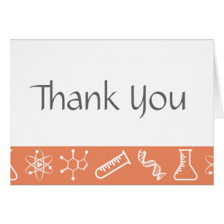 Attractive Forces in Coral Thank You Card