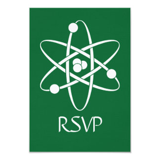 "Attractive Forces in Green RSVP Card 3.5"" X 5"" Invitation Card"