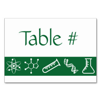 Attractive Forces in Green Table Card
