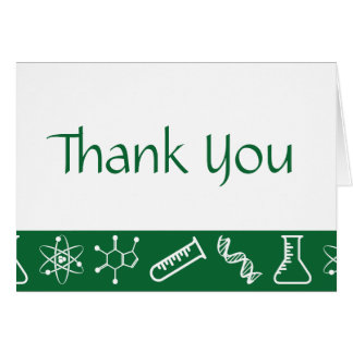 Attractive Forces in Green Thank You Card