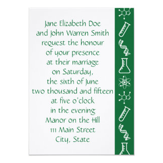 Attractive Forces in Green Wedding Invitation
