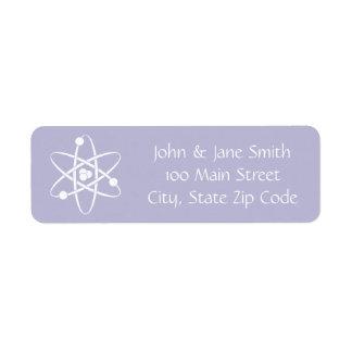 Attractive Forces in Lavender Return Address Label