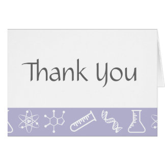Attractive Forces in Lavender Thank You Card