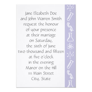 Attractive Forces in Lavender Wedding Invitation