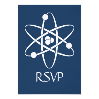 Attractive Forces in Navy RSVP Card Invitations