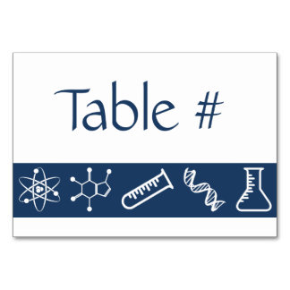 Attractive Forces in Navy Table Card