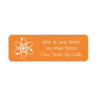 Attractive Forces in Orange Return Address Label