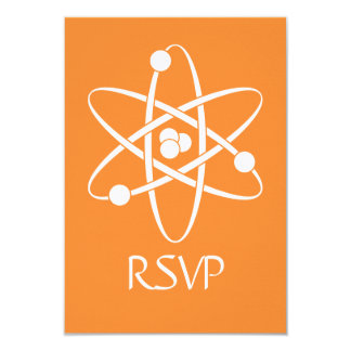"Attractive Forces in Orange RSVP Card 3.5"" X 5"" Invitation Card"