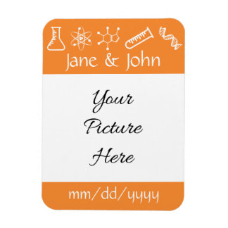 Attractive Forces in Orange Save-the-Date Magnet