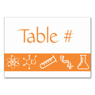 Attractive Forces in Orange Table Card
