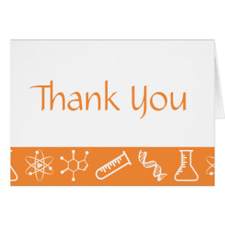 Attractive Forces in Orange Thank You Card