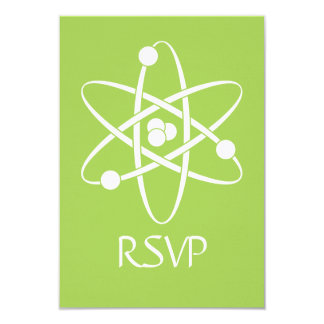 Attractive Forces in Peridot RSVP Card Invitations
