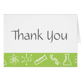Attractive Forces in Peridot Thank You Card