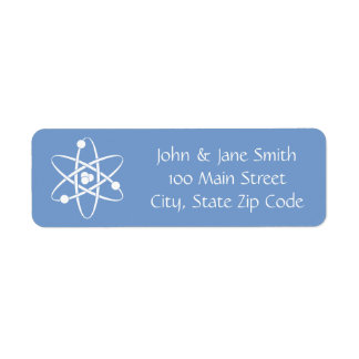 Attractive Forces in Periwinkle Address Label