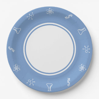 Attractive Forces in Periwinkle Paper Plate