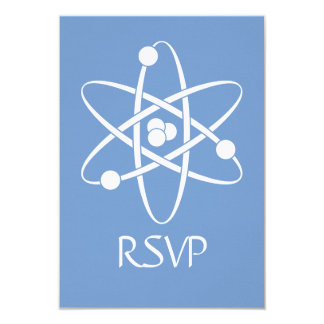 Attractive Forces in Periwinkle RSVP Card Personalized Invitation