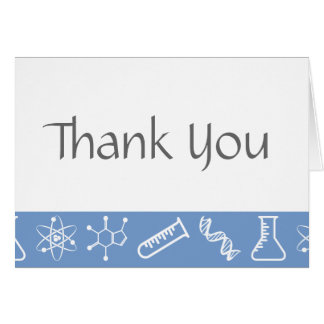 Attractive Forces in Periwinkle Thank You Card