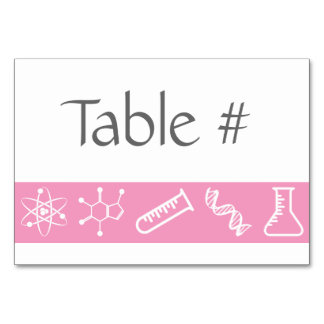 Attractive Forces in Petal Pink Table Card