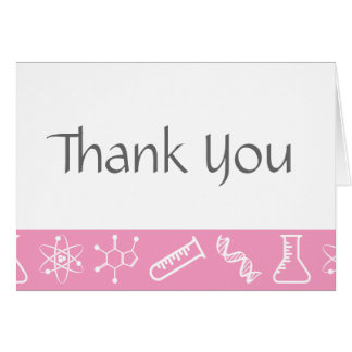 Attractive Forces in Petal Pink Thank You Card