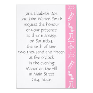 Attractive Forces in Petal Pink Wedding Invitation