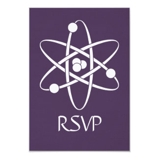 Attractive Forces in Purple RSVP Card Personalized Invitations