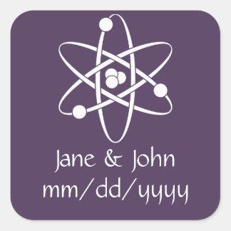 Attractive Forces in Purple Sticker