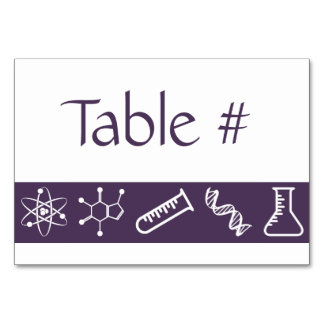 Attractive Forces in Purple Table Card