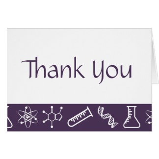 Attractive Forces in Purple Thank You Card