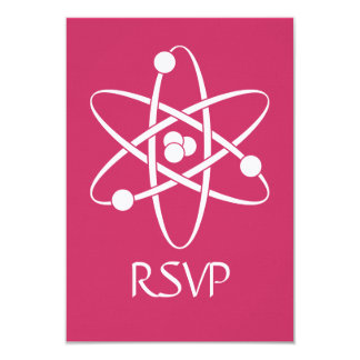 Attractive Forces in Raspberry RSVP Card Custom Invites
