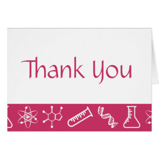 Attractive Forces in Raspberry Thank You Card