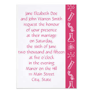 Attractive Forces in Raspbery Wedding Invitation