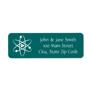 Attractive Forces in Teal Return Address Label