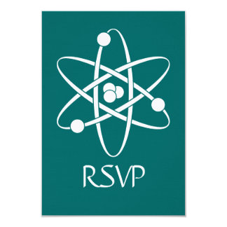 Attractive Forces in Teal RSVP Card Custom Invitations