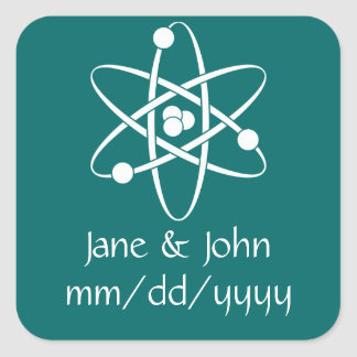 Attractive Forces in Teal Sticker
