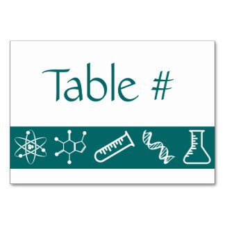 Attractive Forces in Teal Table Card