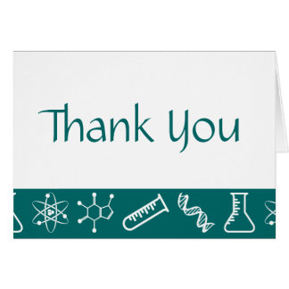 Attractive Forces in Teal Thank You Card