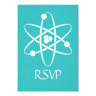 Attractive Forces in Turquoise RSVP Card