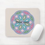 attractive geometric pattern - mouse pad