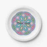 attractive geometric pattern - paper plate