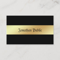 Attractive Glamour Black Gold Modern Elegant Business Card
