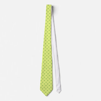Attractive green palm trees on rough yellow surfac neck tie