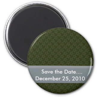 Attractive grey twinkling stars on rough green sur refrigerator magnets