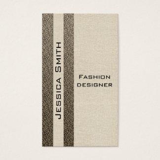 Attractive impressive leopard print stripes business card