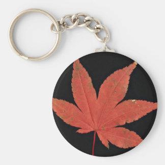 Attractive Japanese maple leaf Basic Round Button Keychain