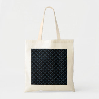 Attractive light blue flowers with two leafs on ro budget tote bag